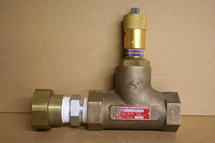 Needle flow control valve 1