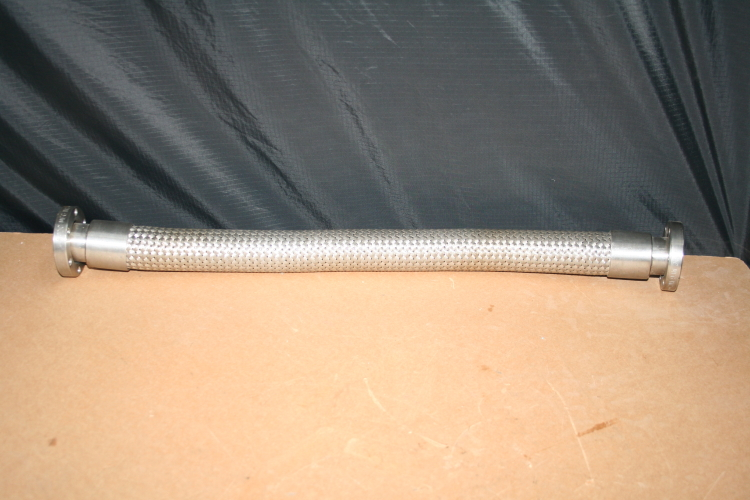 Flexible tube 24 in Roughing hose Vacuum Braided 2 3/4in Conflat MDC