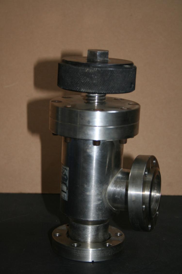 Vacuum valve 275 CF Conflat Right angle Bakeable Metal seal MV-150 Huntington