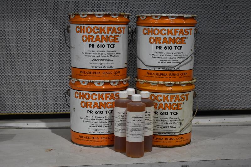Chocking Compound, Chockfast Orange, Structural Epoxy, 15 lb kit, Lot of 4 Kits