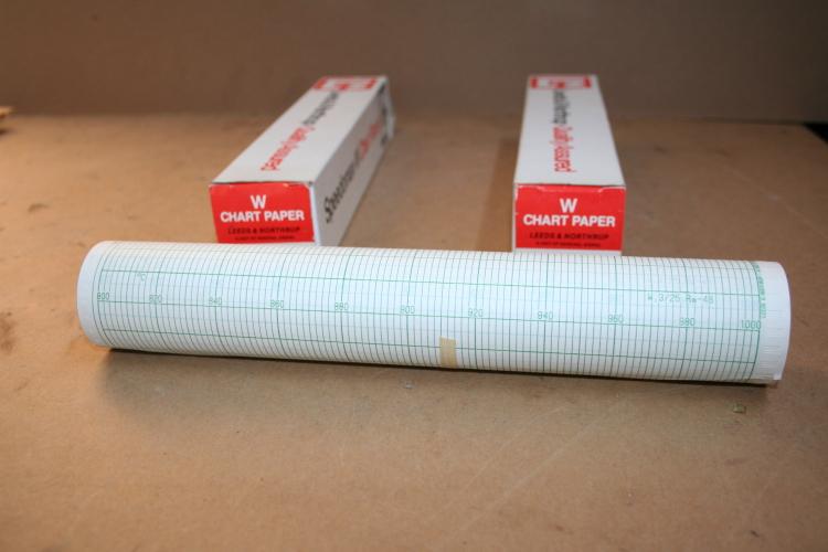 Chart Paper Speedomax W 539919 Leeds & Northrup Lot of 2