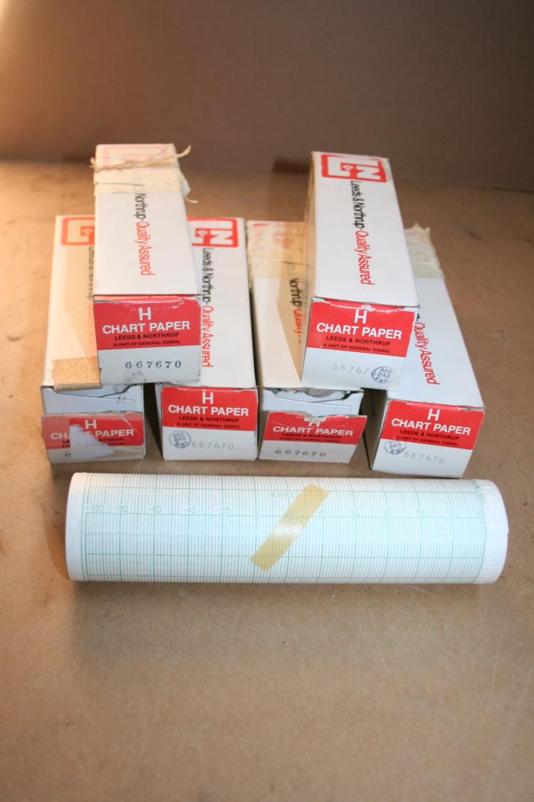 Chart Paper 667670 -100-140 deg F Leeds & Northrup Speedomax H Lot of 6