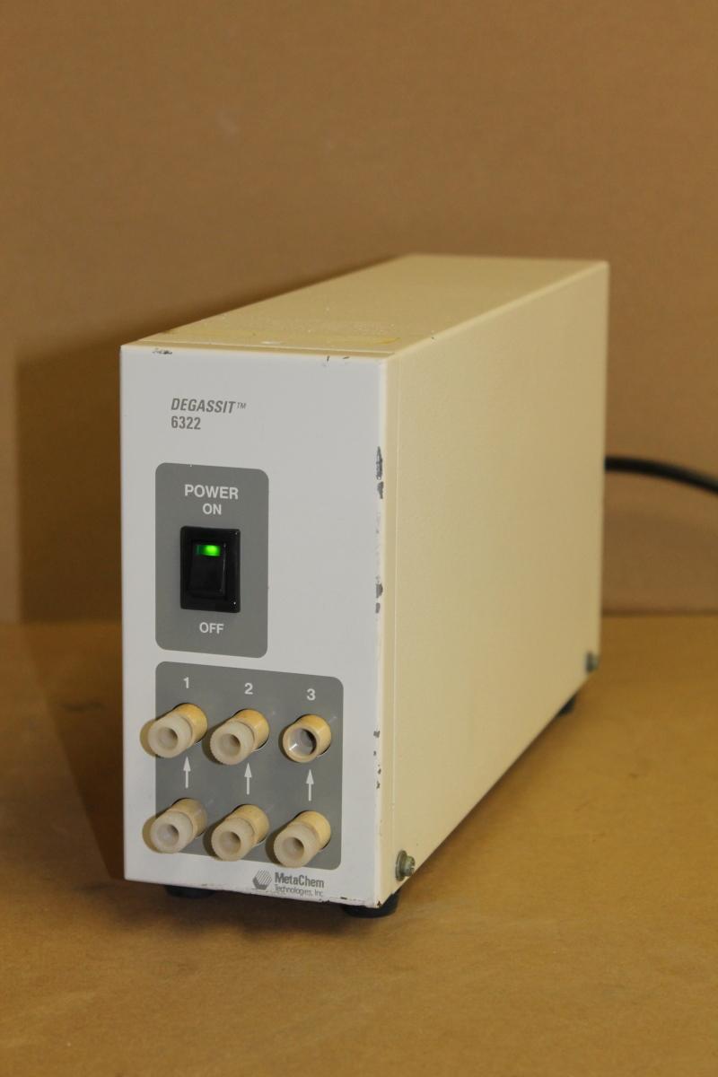 Vacuum degasser, HPLC, 3 channel, 115V, Degasys DG-6322 Uniflows Tested