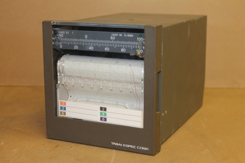 Strip chart recorder, Temperature, Humidity, 2 pen, EL100-02T3, Tabai Espec
