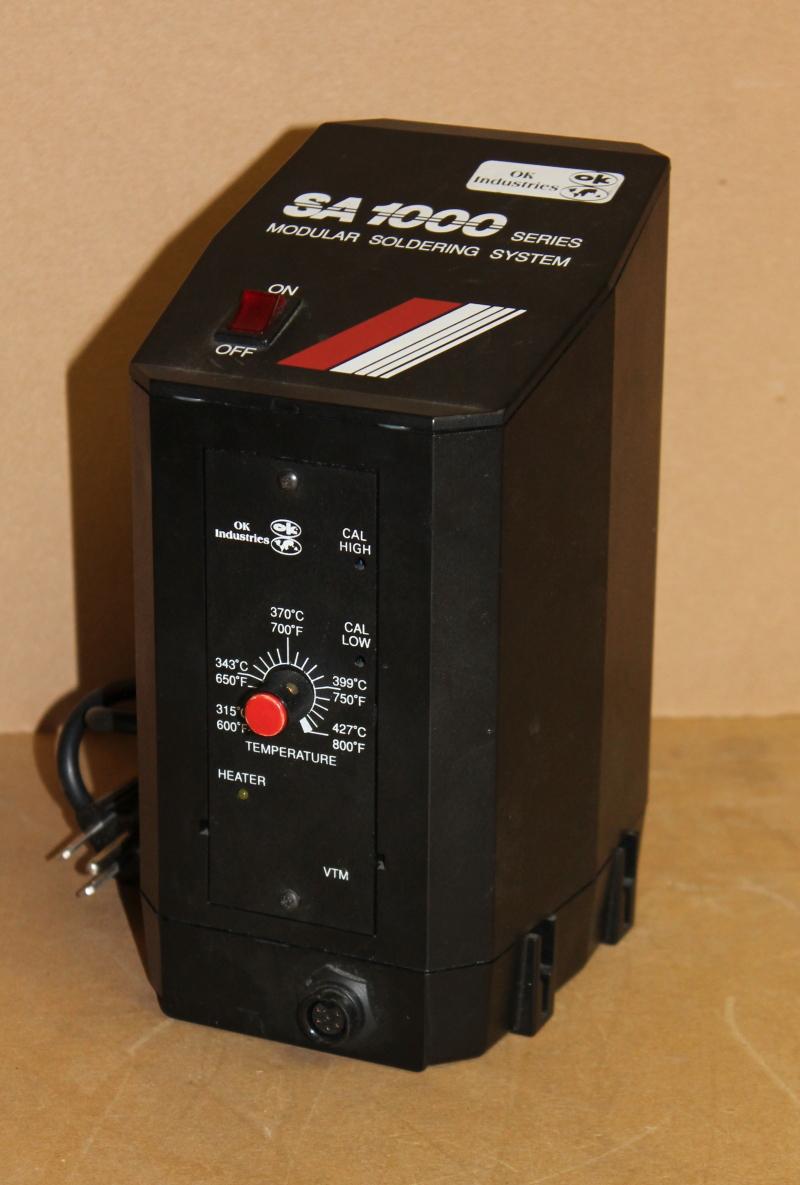 Solder Station Controller, 28VAC Power Supply, 115 VAC, SA 1000, OK Industries