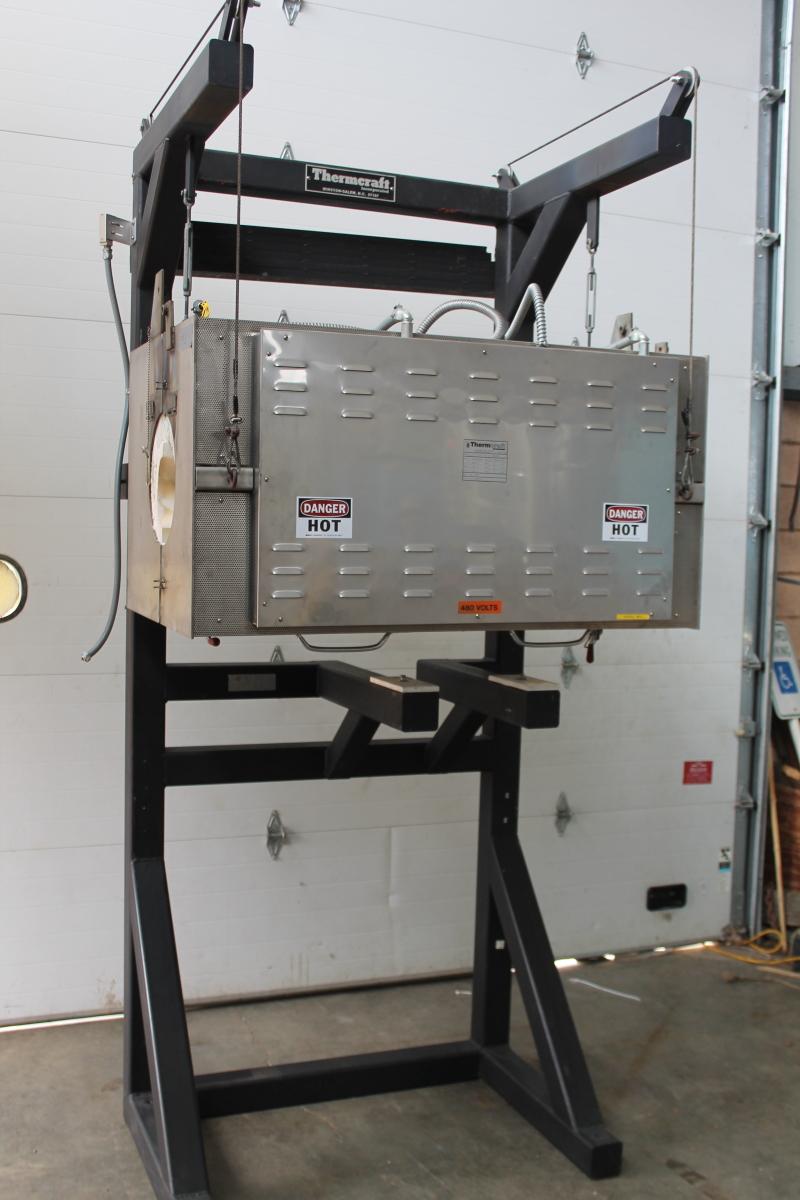 Split tube furnace, Horizontal, 34000 W, 3 zone, 2200 deg F, TSP-11.5 Thermcraft
