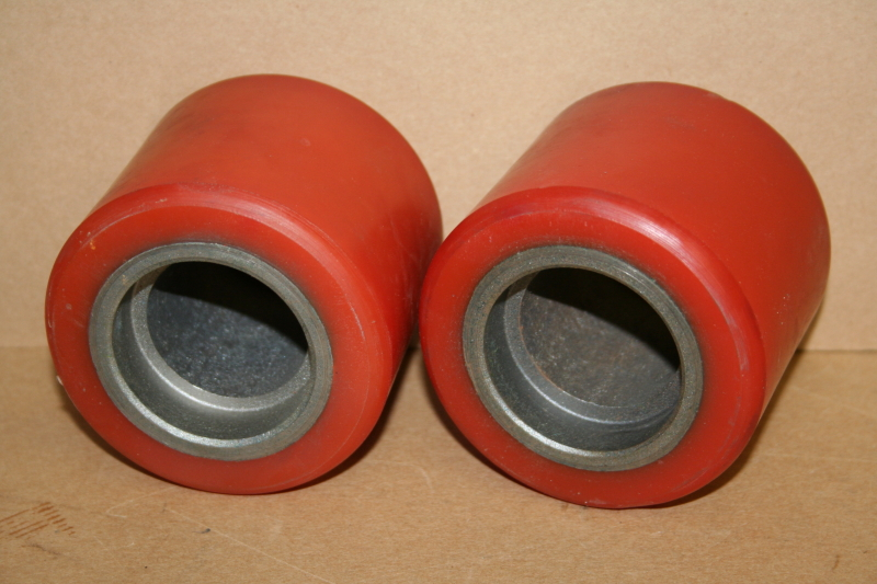 Wheels, Polyurethane with steel core, 80x73mm 3.23x2.9in Unused Lot of 2