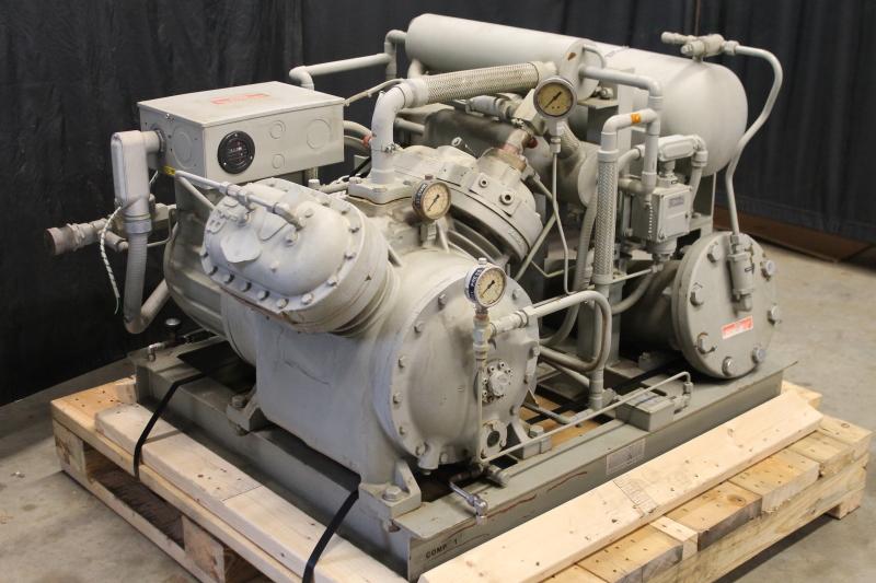 Helium compressor, 40 HP, CTI-Cryogenics Helix 1400 60 CFM 250 PSI