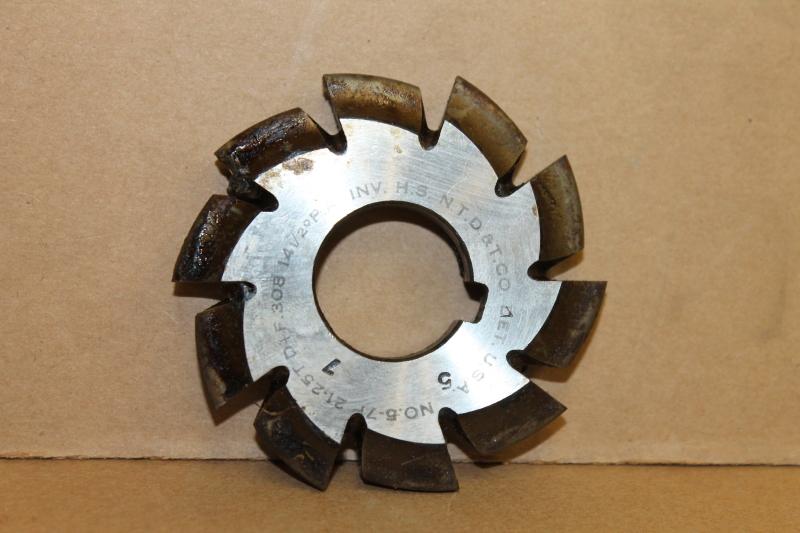 Convex Involute Gear Cutter, #5 7P 21-25T D+F .308, 14-1/2 PA, 1