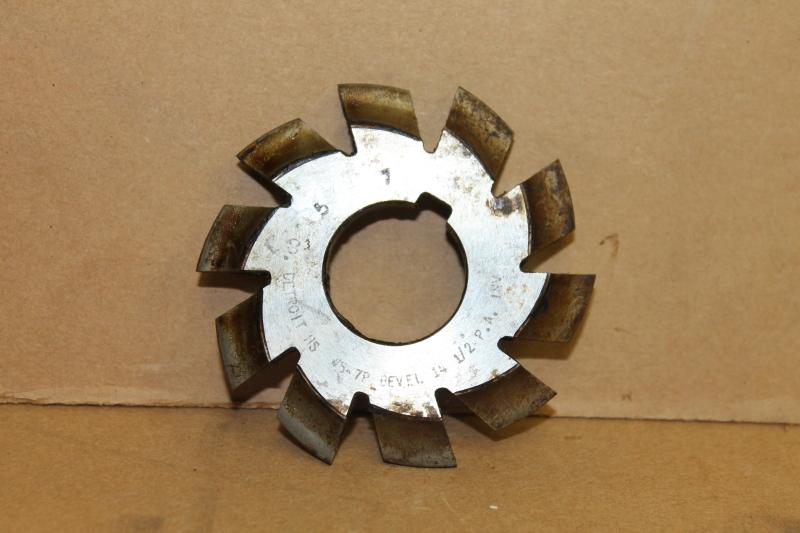 Convex Involute Gear Cutter, #5 7P 14-1/2 PA, 1