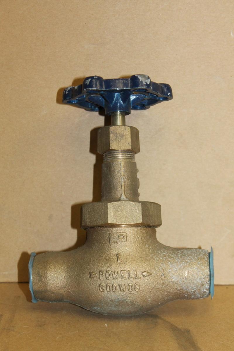 Powell 1823 Globe Valve, Bronze, 1