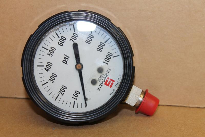 Pressure gauge, 1000psi, 2.5