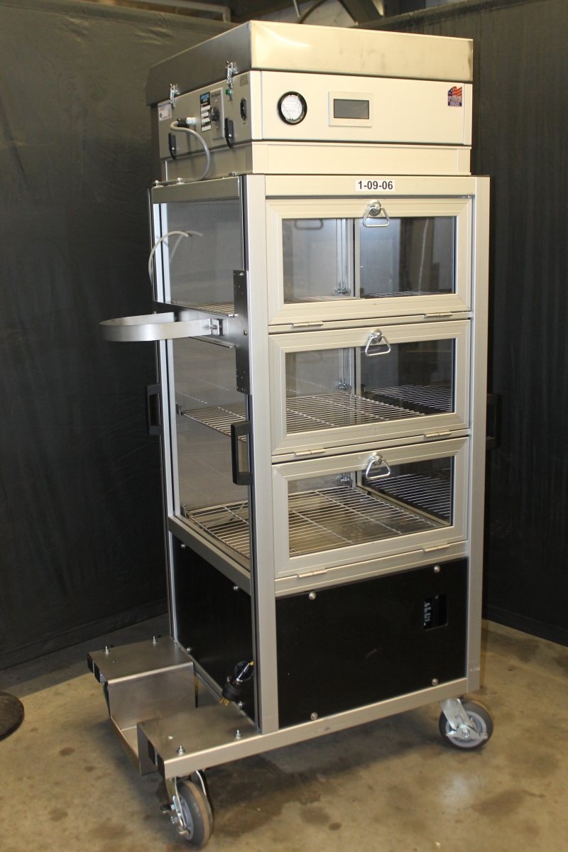 Dry Box, Nitrogen, HEPA, CST-3/4-SND, Smart N2, Desiccator, 3 Door, 3 Shelf