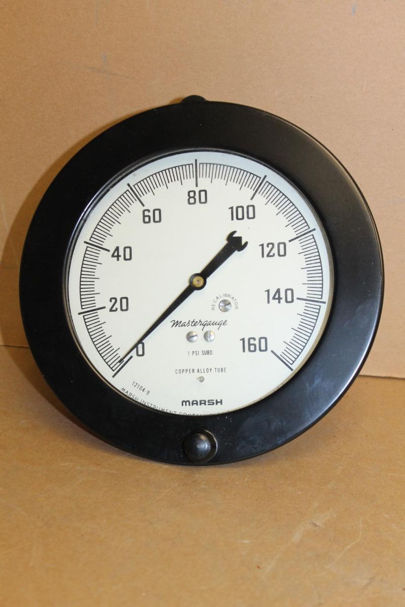 Pressure gauge, 160 PSI, 6