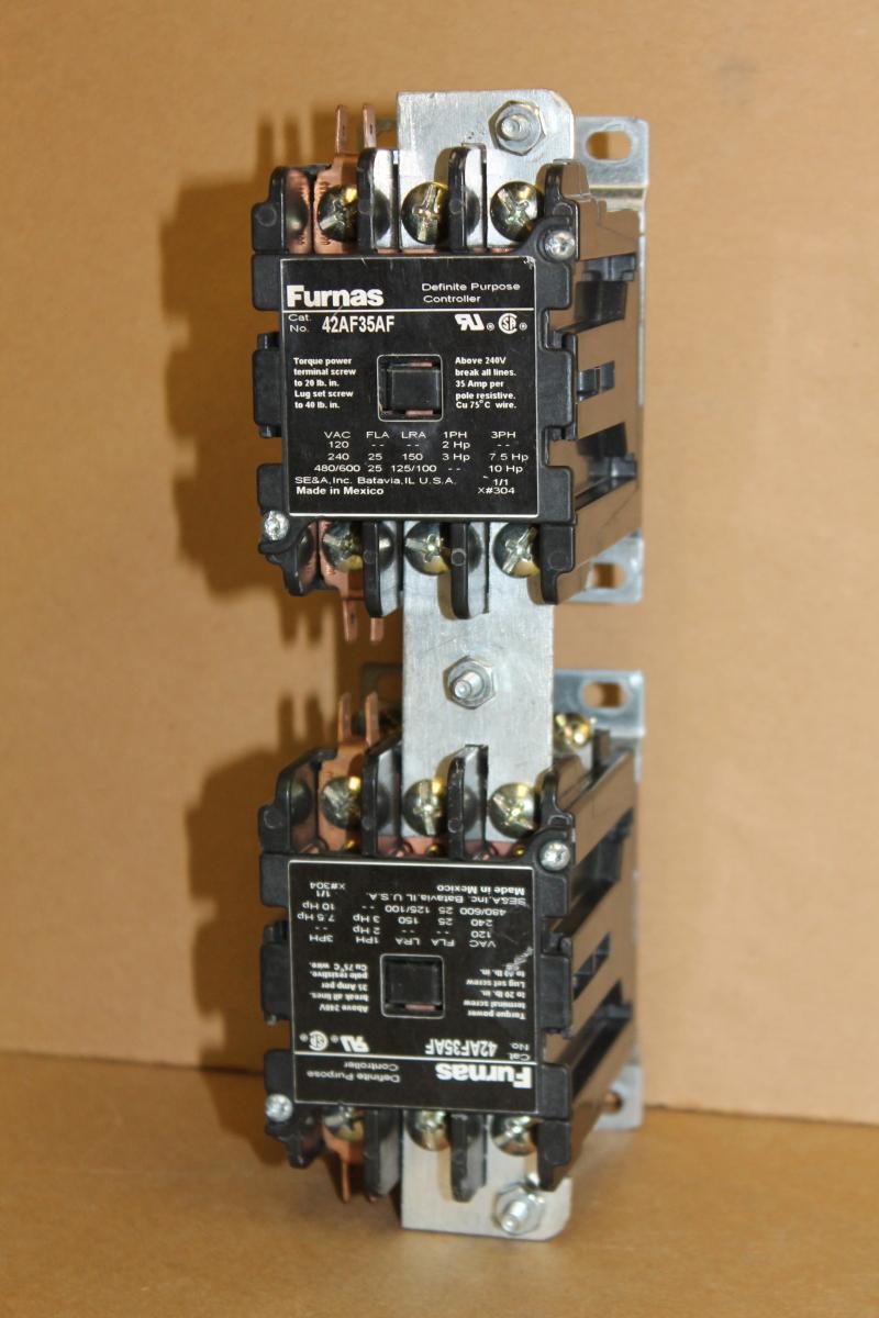 Reversing contactor, Definite purpose, 25A, 3P, 42AF35AF, Furnas
