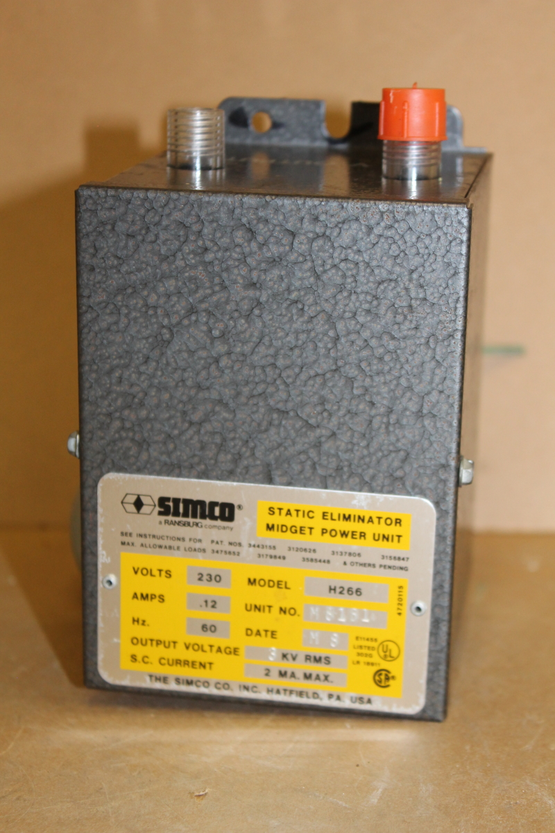 Power supply, Static eliminator midget power unit, 3kv, H266, Simco