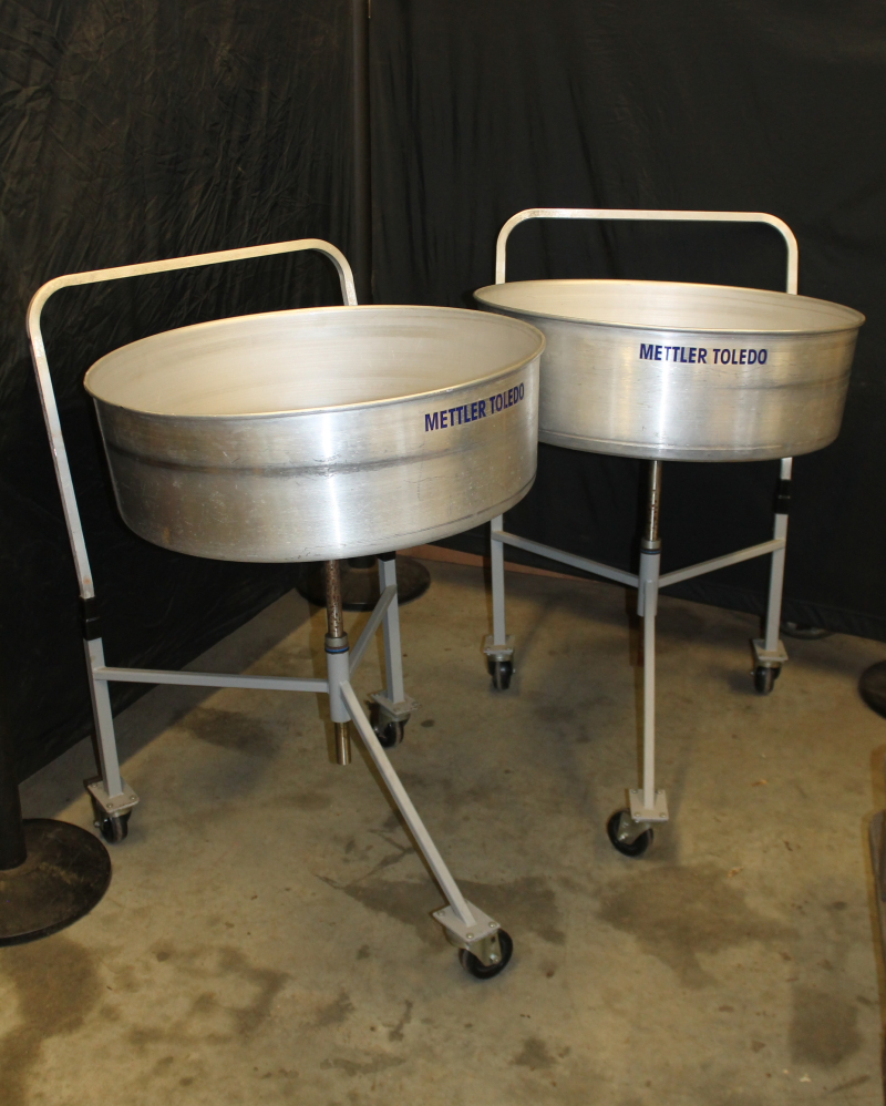 Product carousel Portable industrial turntable, Aluminum Mettler Toledo Lot of 2