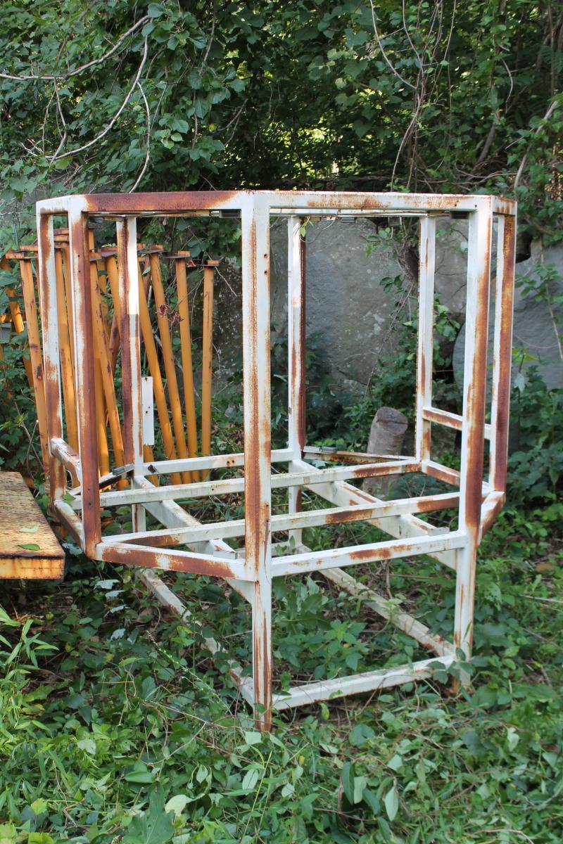 Terrarium frame, Bird cage frame, Large, Steel, Elongated octagon