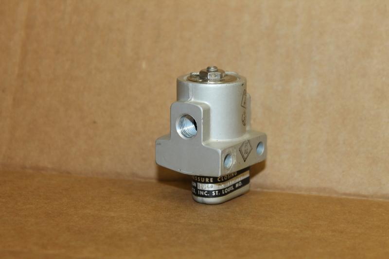 Essex 20C-0008-1 Pressure Closing Valve, Liquid Oxygen, LOX, 1/8