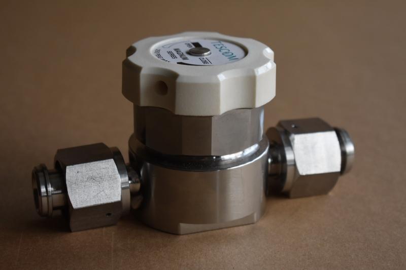 Diaphragm valve, High flow, Manual, 1/2