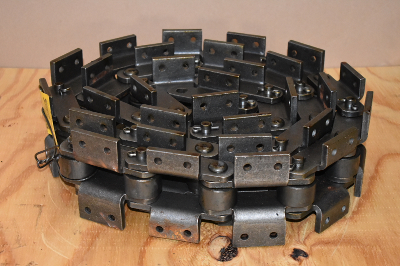 Double pitch attachment chain Bent lug Large roller, 10', C2162H, Renold Jeffery
