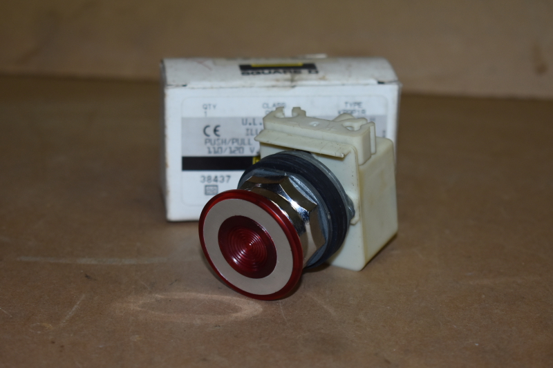 Operator switch, Push/pull, maintained, Illuminated, 120V, 9001 KR9P1R Square D