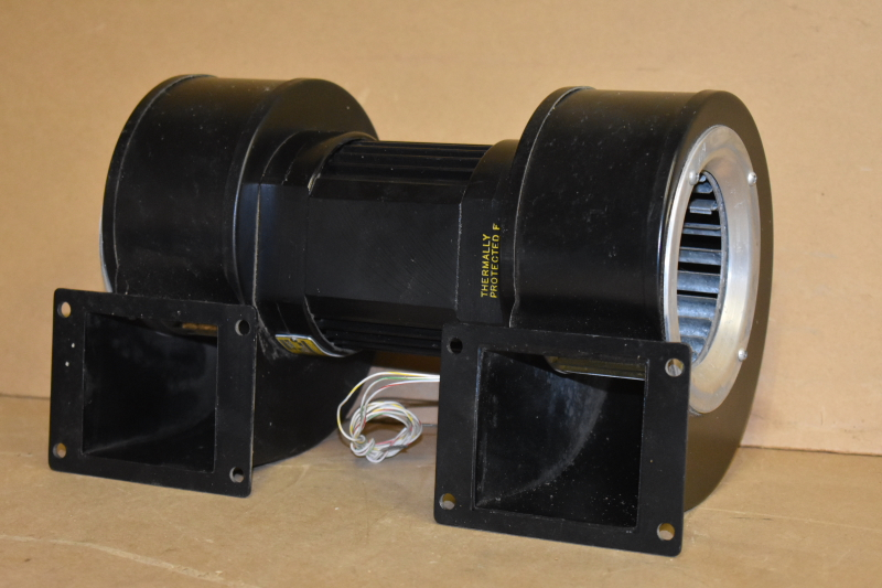 Centrifugal fan, Dual impeller, 0.227 HP, 375 CFM, 3300 RPM, 230VAC 1ph, Rotron