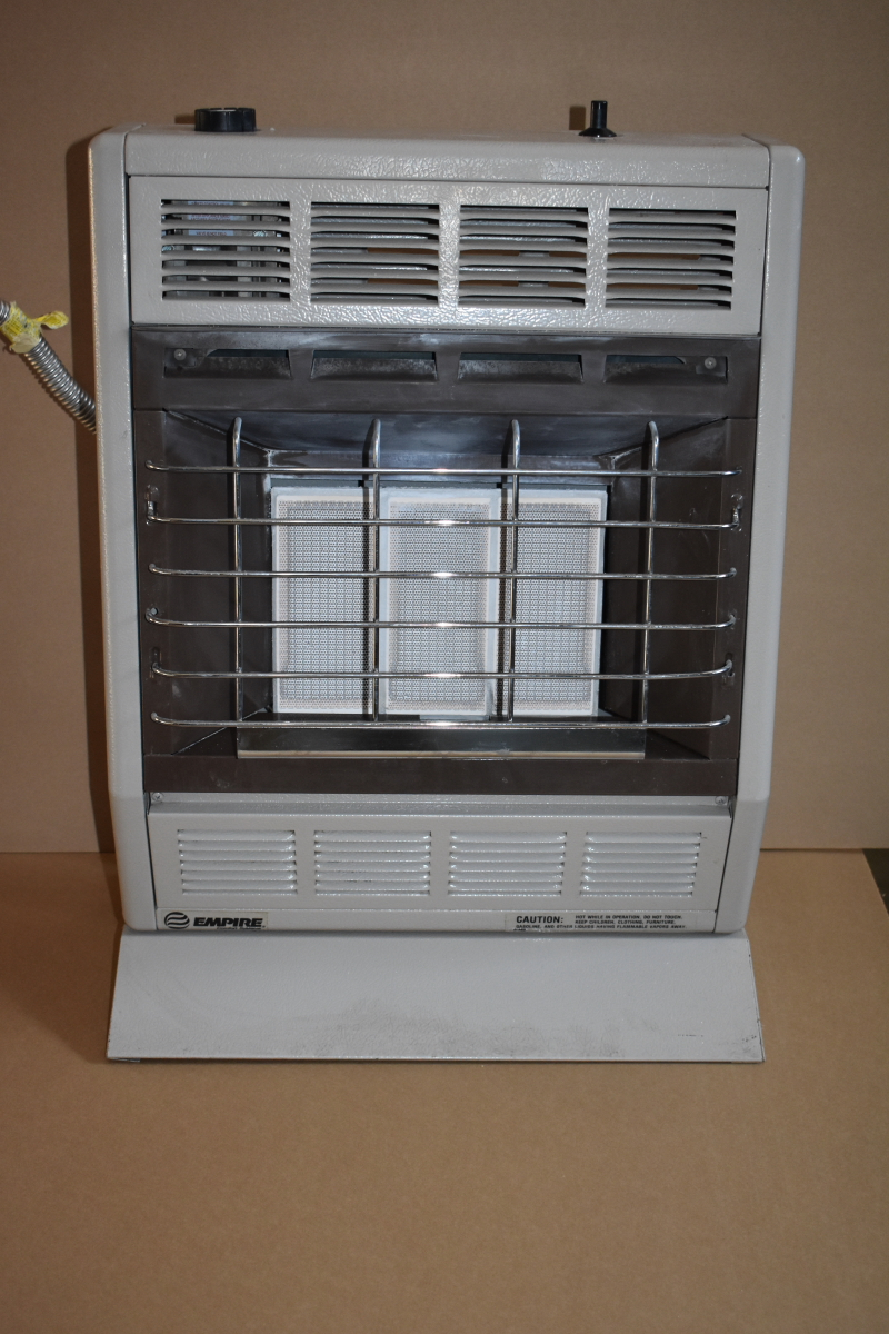 Infrared heater, 18,000 BTU, Nat gas, USA, Vent free, Thermostat, SR18T Empire