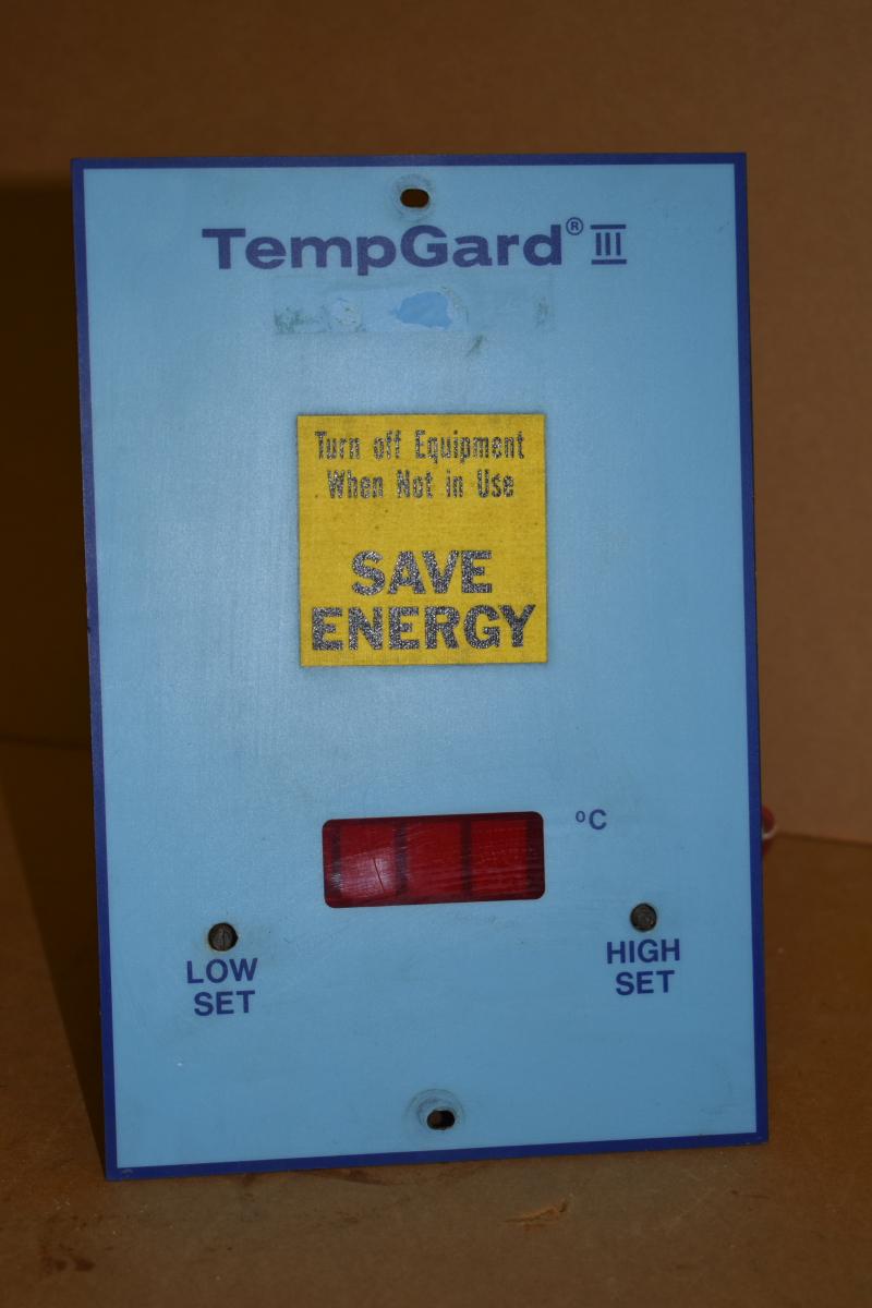 Temperature alarm, -99 to +300 C, TempGard III, TNNY-ALRM-1002, Tenney