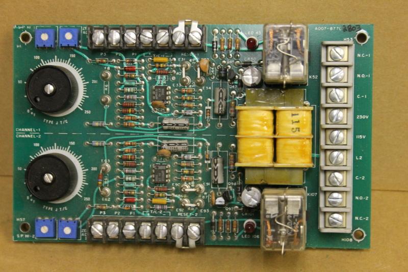 Overtemp controller 2 channel, 0 to +250 deg F, Type J, 340D-2600-1000, Watlow