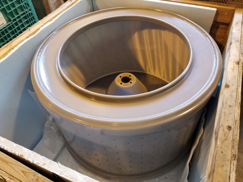 Rousselet & Robatel RC85 Halar Coated Centrifuge Basket