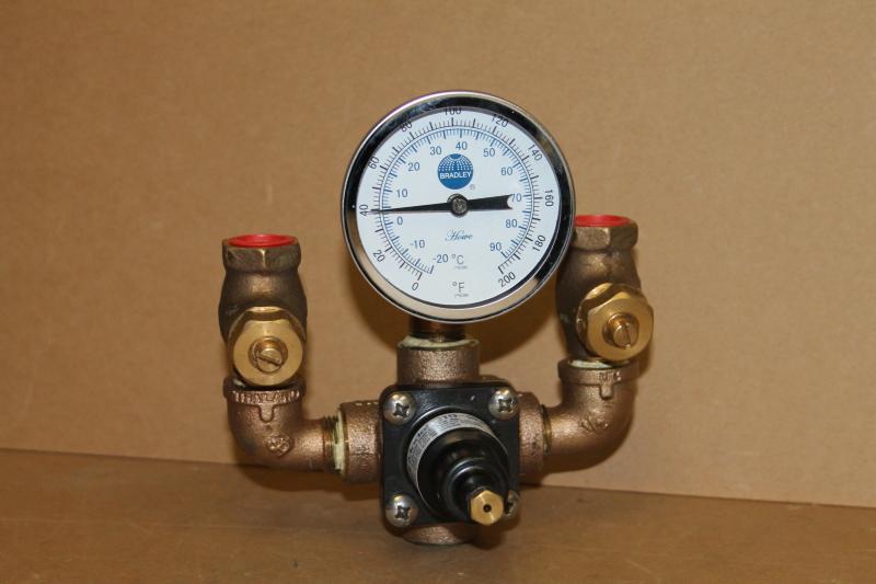 Thermostatic mixing valve, 1/2