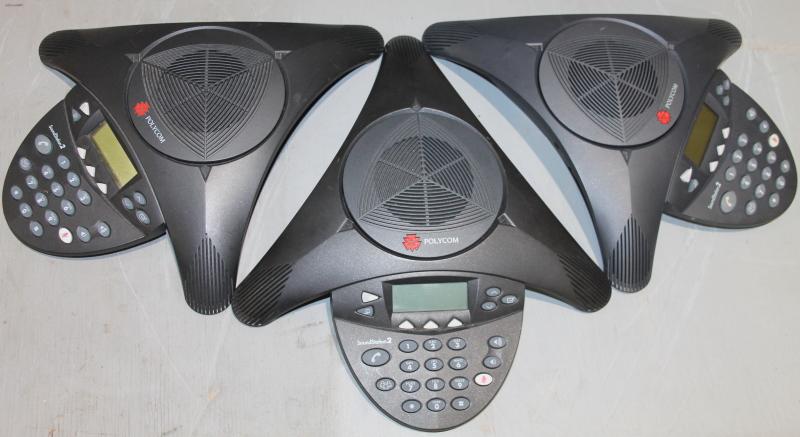 Lot of 3, Polycom Soundstation 2, conference speaker, 2201-16200-001