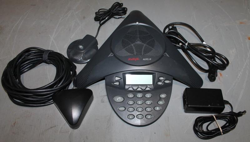 Avaya 4690 IP VoIP conference speaker, microphone, wall module