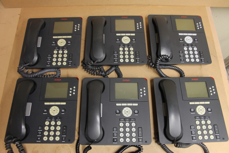 Lot of 6 Avaya 9630G IP Phone, One-X, Gigabit