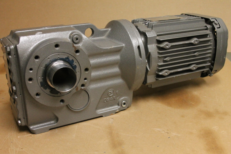 SEW-Eurodrive KT47/TDRE80M4 Helical-bevel Gearmotor, 1740RPM, 3 PH, 1HP, TorqLOC