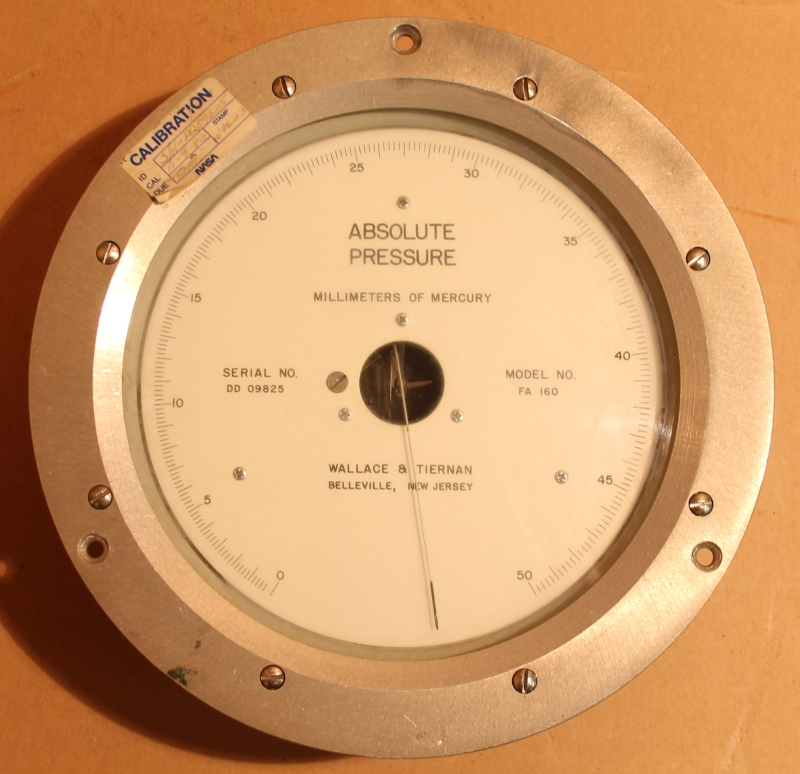 Wallace & Tiernan Absolute Pressure Indicator, FA 160, 0-50mm