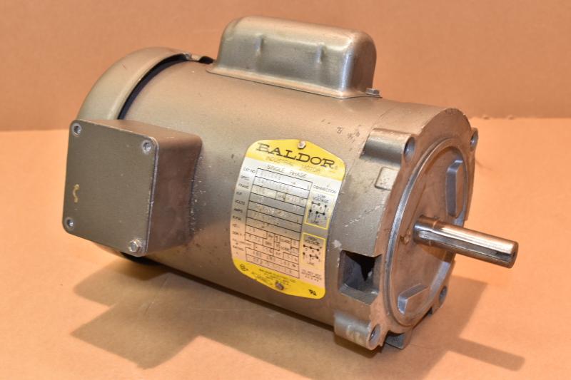 Baldor KL1203 Single Phase AC motor, 115/208-230V, 5/2.6-2.5A, 1725RPM, .25HP