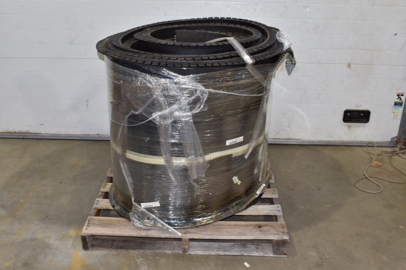 Weigh Feeder Conveyor Belt, Rubber, 55' 5