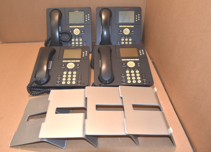 Lot of 4 Avaya 9630G IP Phone, One-X, Gigabit