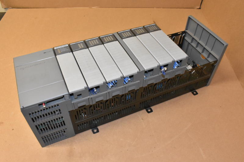 ABB SLC 1746-A10, Ser. A, 10-Slot Chassis, With Modules, SLC500
