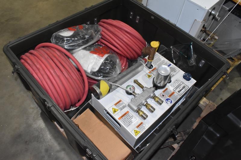 Rhine Air Portable breathing supplied air respirators and pump system NIOSH mask