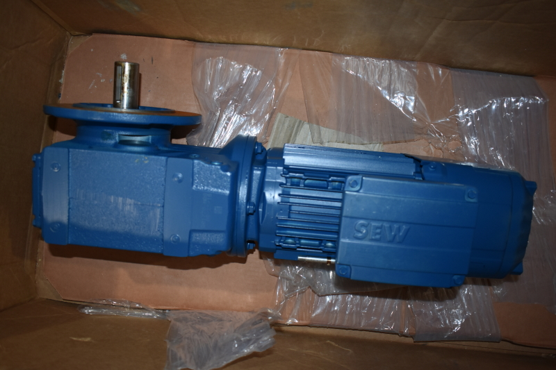 SEW Eurodrive gearmotor 1 HP 21 RPM KF47 DRN80M4/BE1HR/Z brake Hytrol 300.0391