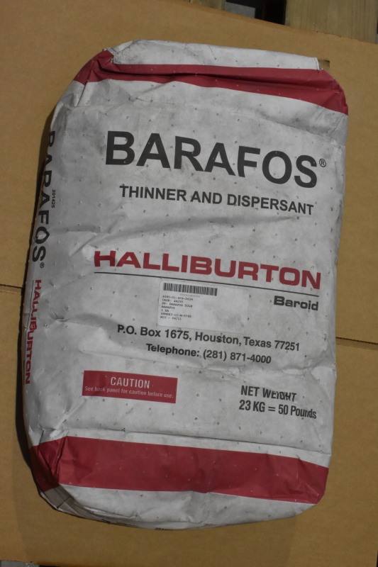 Halliburton Barafos thinner and dispersant 50 lb bag, MANY BAGS AVAILABLE