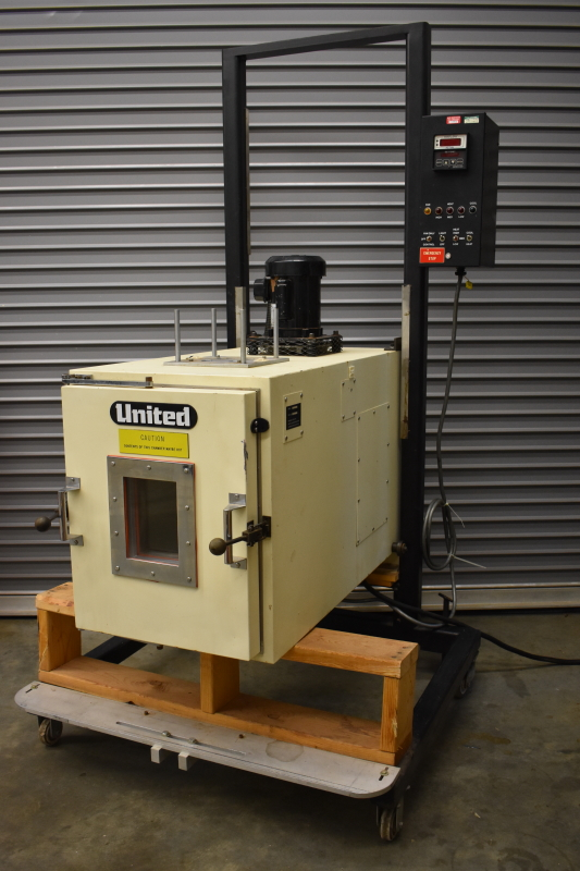 United environmental tensile tester chamber for UTM or creep rupture