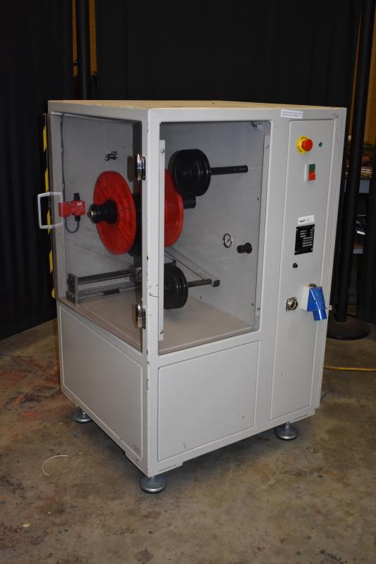 Wire re-reeling stand for Spectrum Technologies Capris 60 laser marking machine
