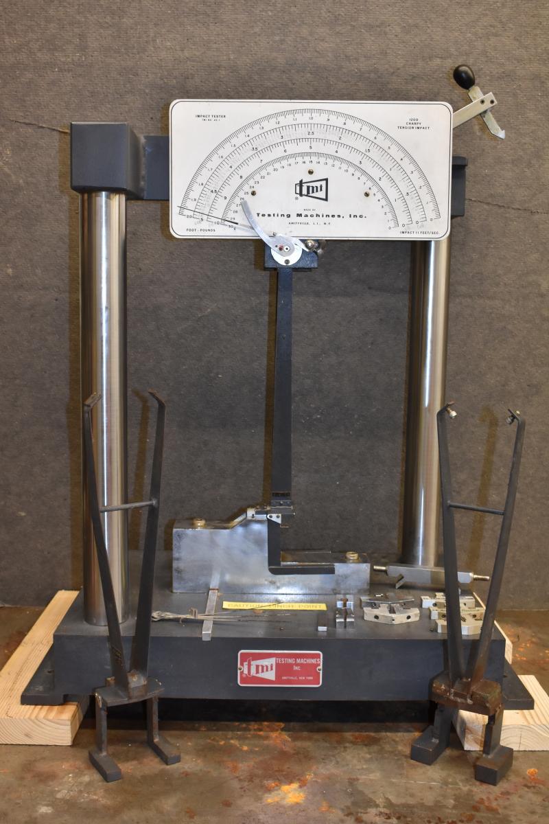 TMI Imact tester 43-01 setup for Tension Impact testing ASTM D1822