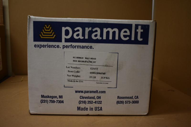 Paramelt KC-3096LR red wax bead 35 LBS. box