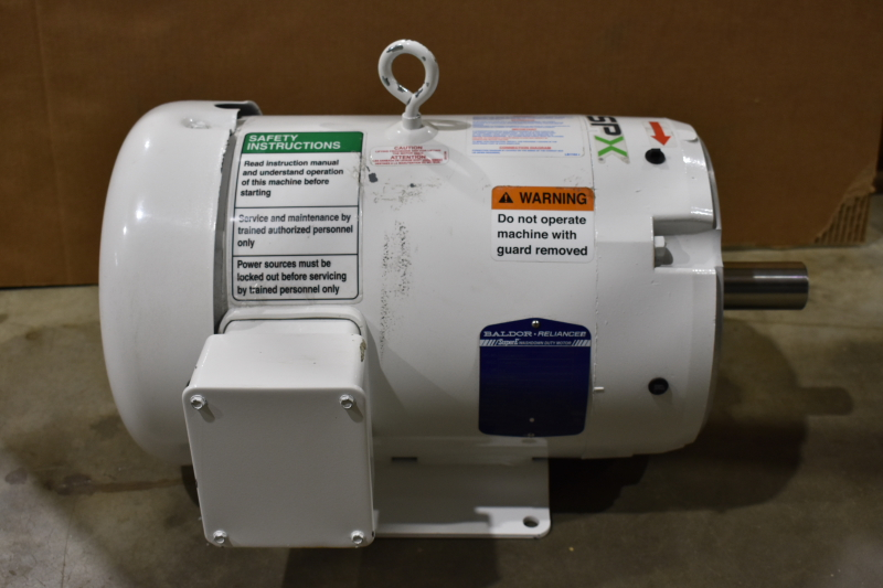 Washdown Motor, BALDOR CEWDM3709T, HP 7.5 ,230/460V  60 Hz ,RPM 3520 Frame 213TC